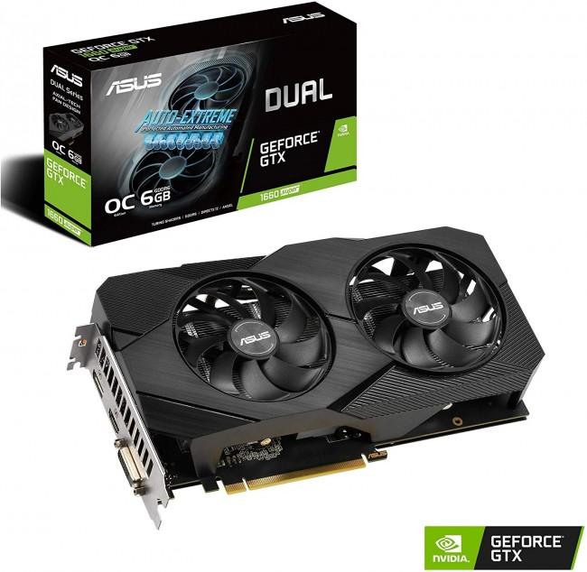 ASUS DUAL-GTX1660S-O6G-EVO GeForce GTX 1660 SO 6GB Dual-fan EVO