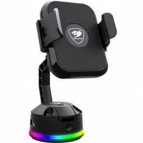 COUGAR 3MBMRXXB.0001 Bunker M RGB Phone Stand QI Wireless Charging/USB Hub