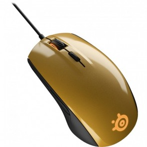 SteelSeries 62336 Rival 100 Optical Gaming Mouse Alchemy Gold